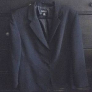 Style & Co 2 Button Black Blazer/Suit Jacket